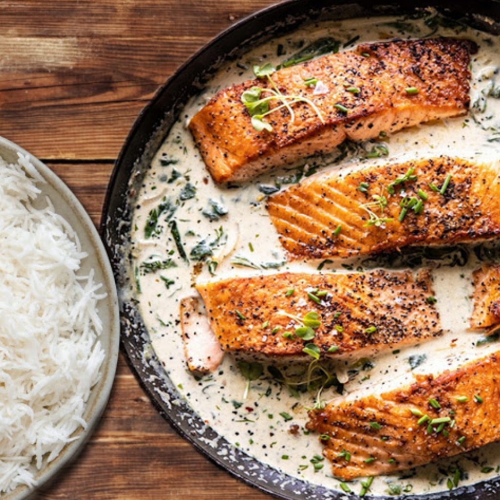 Honey Garlic Butter Baked Salmon